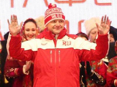 Выступление Александра Ткачёва на Церемонии зажжения в Краснодаре Олимпийского огня «Сочи-2014»