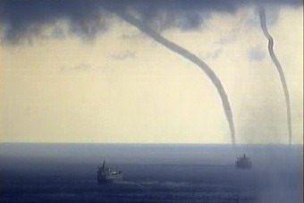 На Чёрном море ожидается формирование смерчей