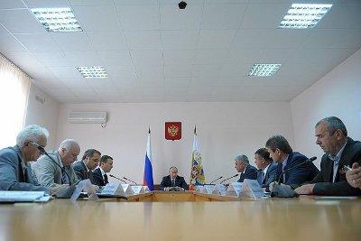 Выступления на совещании по ликвидации последствий стихийного бедствия в Краснодарском крае
