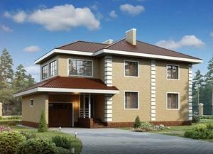 Двухэтажный дом с перекрытиями